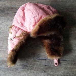 BUNDLE ONLY - Pink Trapper Hat w/ Faux Fur